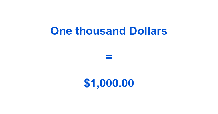 One thousand dollars